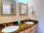 His and Hers vanities for the master bath.