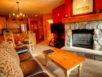 Living Room - With ample room for cooking, dining and entertaining a couple or a family of 3 or 4.  The living room...