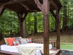 The 300 year old Joglo was imported from Bali and is an ideal place to read a book or relax