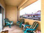 Private Double Balcony, Lounging Side