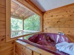Pamper yourself in the jetted tub