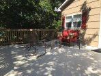 Our deck is large so you can relax in the sitting area or...