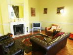 This extra sitting room has a television and is ideal to entertain children