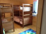 2 sets of full size bunks making this apartment very suitable for 2 families.
