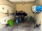 toy garage shared with 3 units