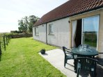 Back garden with stunning views over the Fife countryside