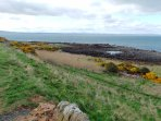 The Fife Coastal Path is less than a mile from the back gate