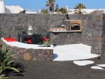 OUR BBQ AREA IN LAVIC STONE & MANRIQUE STYLE