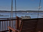 View from porch swing and lower deck