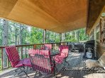 Covered deck with propane grill