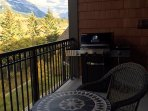 Private Balcony with BBQ and Patio Furniture to sit and enjoy the views