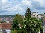 Vue exceptionnelle sur le château d'Amboise depuis la maison.