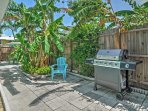 Enjoy the pleasant Florida air on the private furnished patio.