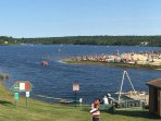 Spectacular views of Lake & Beach from Club House Deck/Only an 8 minute walk!