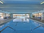 Enjoy access to the Olympic-sized swimming pool.