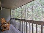 Enjoy mountain serenity on the balcony.