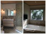 2nd floor Master Bathroom, heated floor, TV