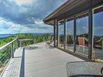 2BR Purlear Cabin w/ Wraparound Deck & Mtn Views!