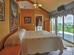 The master bedroom is a great place to retreat at the end of each night.