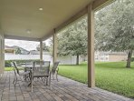 Unwind on the attractive back patio.