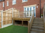 Private garden and decking