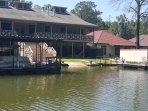 Lake view of house