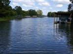 View of the lake from the swim dock