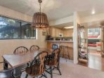 Just off of the kitchen is a formal dining room and table with seating for six (6).