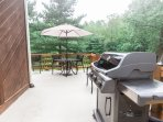 Patio cooking and dining!