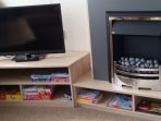 Tv with freeview/dvd player.Kids dvds,books and games