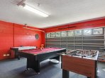 Games room with FOOSBALL, POOL AND AIR HOCKEY