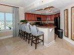 Breakfast bar with seating for 4