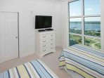 Guest bedroom with two twins, 36-inch TV/DVD