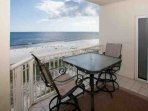 Dining table for 2 overlooking beach and Gulf
