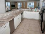 Tiled floor with plenty of counter space