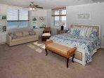 Master bedroom with King bed and sleep sofa