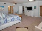 Master bedroom with 46-inch TV