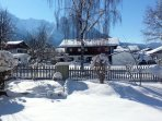 Snowy gardens ...