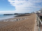 Hastings Pier from the prom. Lovely walk and plenty to do and see.