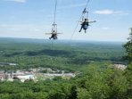 zip-lining at CBK mountain adventures