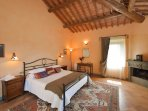 The master suite which comprises king size bed, dressing room and Jacuzzi bath room and shower.