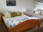 Spacious Bedroom with King size bed, double sofa bed,