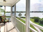 Master Suite Screened Balcony overlooking Little Sarasota Bay