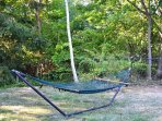 Hammock to enjoy the shade of tree coverage.