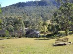 View from the rear of the property of Aussie bush & farm land. Walk the grounds and enjoy fresh air.