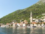 Take a boat trip from Kotor around the Bay to the beautiful village of Perast.