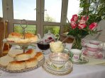 Vintage Tea Party in the conservatory
