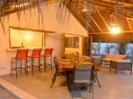 The gracious, spacious patio offers many options for your leisure time.