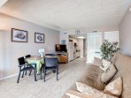 You'll enjoy spending time with your loved ones in this cozy living/dining space.