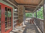 Enjoy wonderful wooded views from the private furnished patio.
